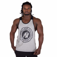 "Майка для бодибилдинга Gorilla Wear ""Roswell"" Tank Top, серо-черная"