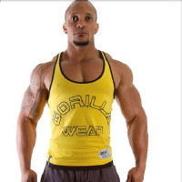 "Майка для бодибилдинга Gorilla Wear ""Logo Stringer"" Tank Top, желтая"