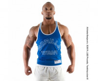 "Майка для бодибилдинга Gorilla Wear ""Logo Stringer"" Tank Top, синяя"